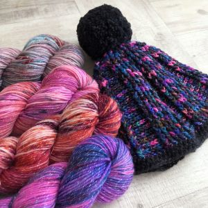 Galaxy (60% merino, 26% nylon, 10% alpaca and 4% metallic) - $34